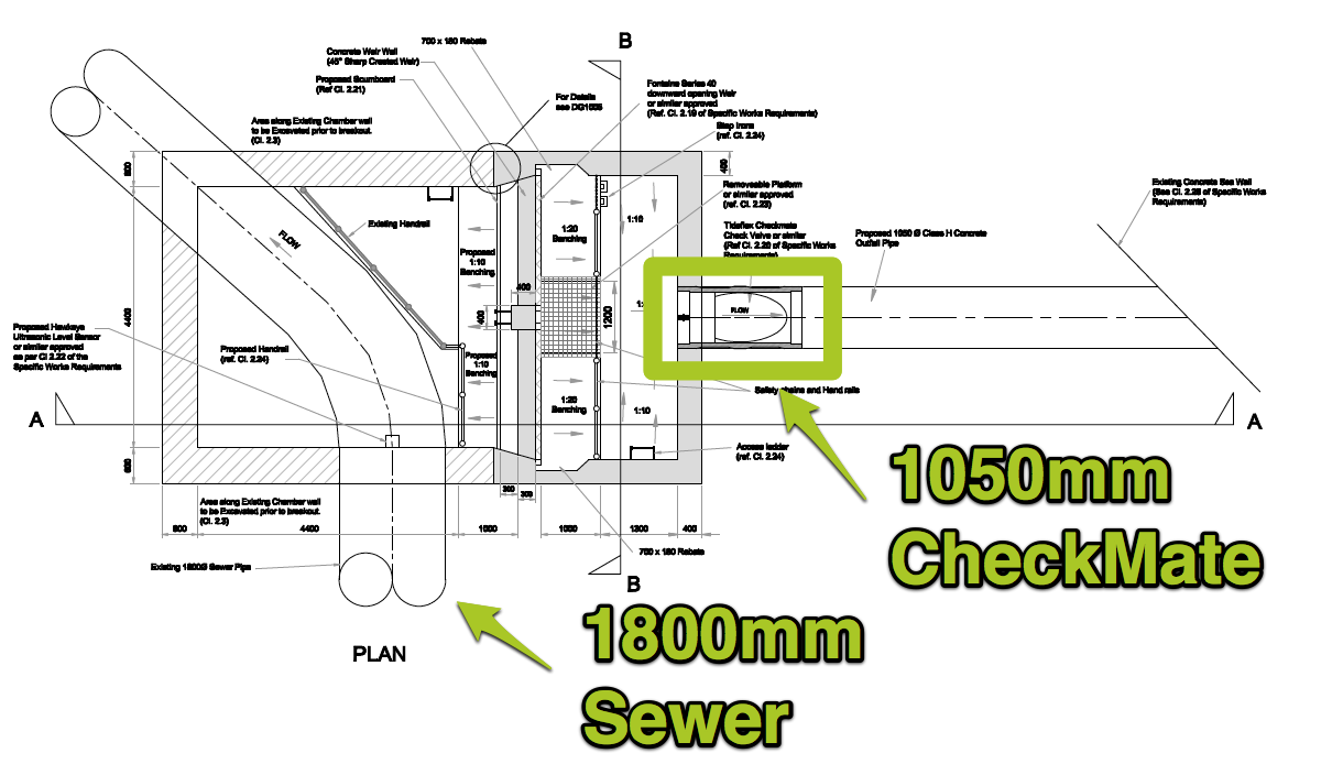 Plan of New Overflow Chamber
