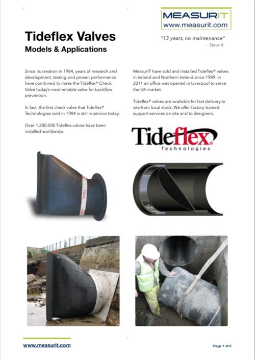 Tideflex CheckMate Data Sheets Downloads — MeasurIT