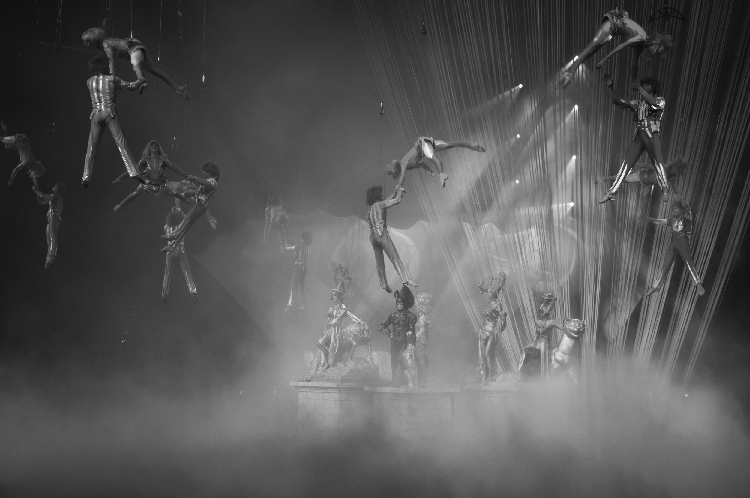 Spectacular acrobat show at Chimelong International Circus, Guangzhou