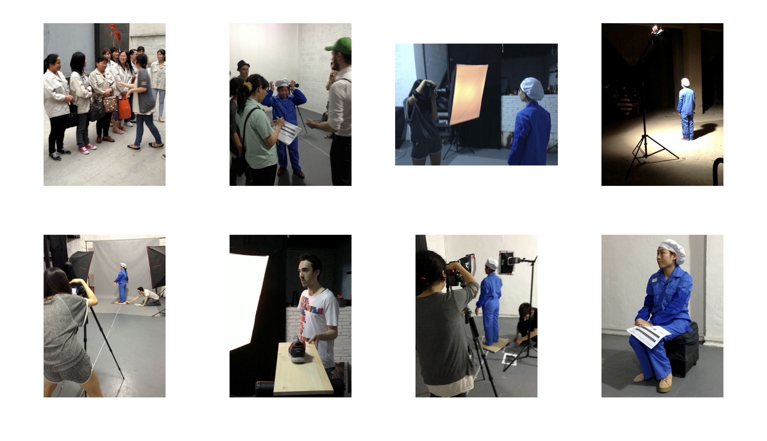 Snapshots from John Gerrard directing proceedings in Guangzhou at ITR Space.