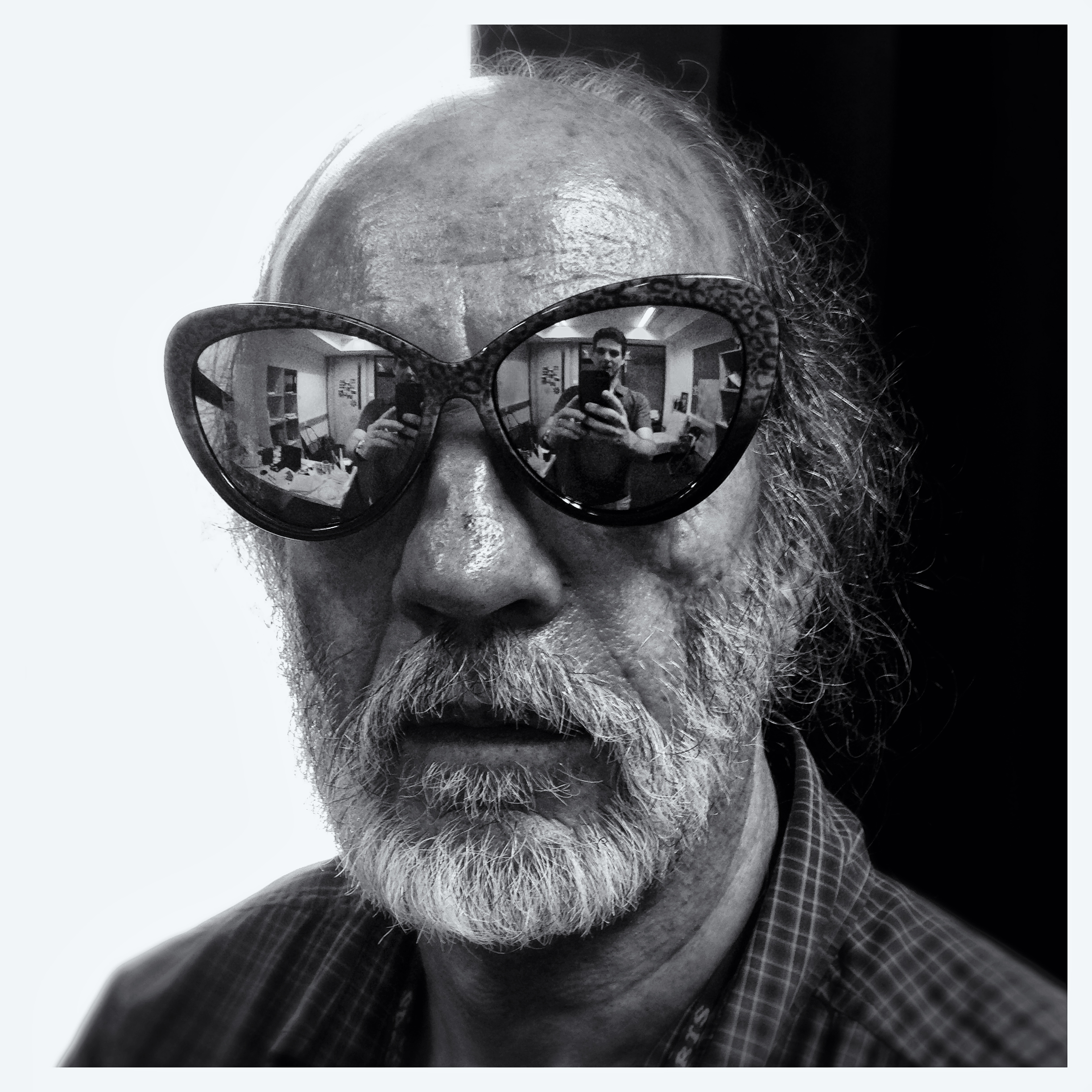 My colleague -looking like Willie Nelson, Guangzhou. August 2014
