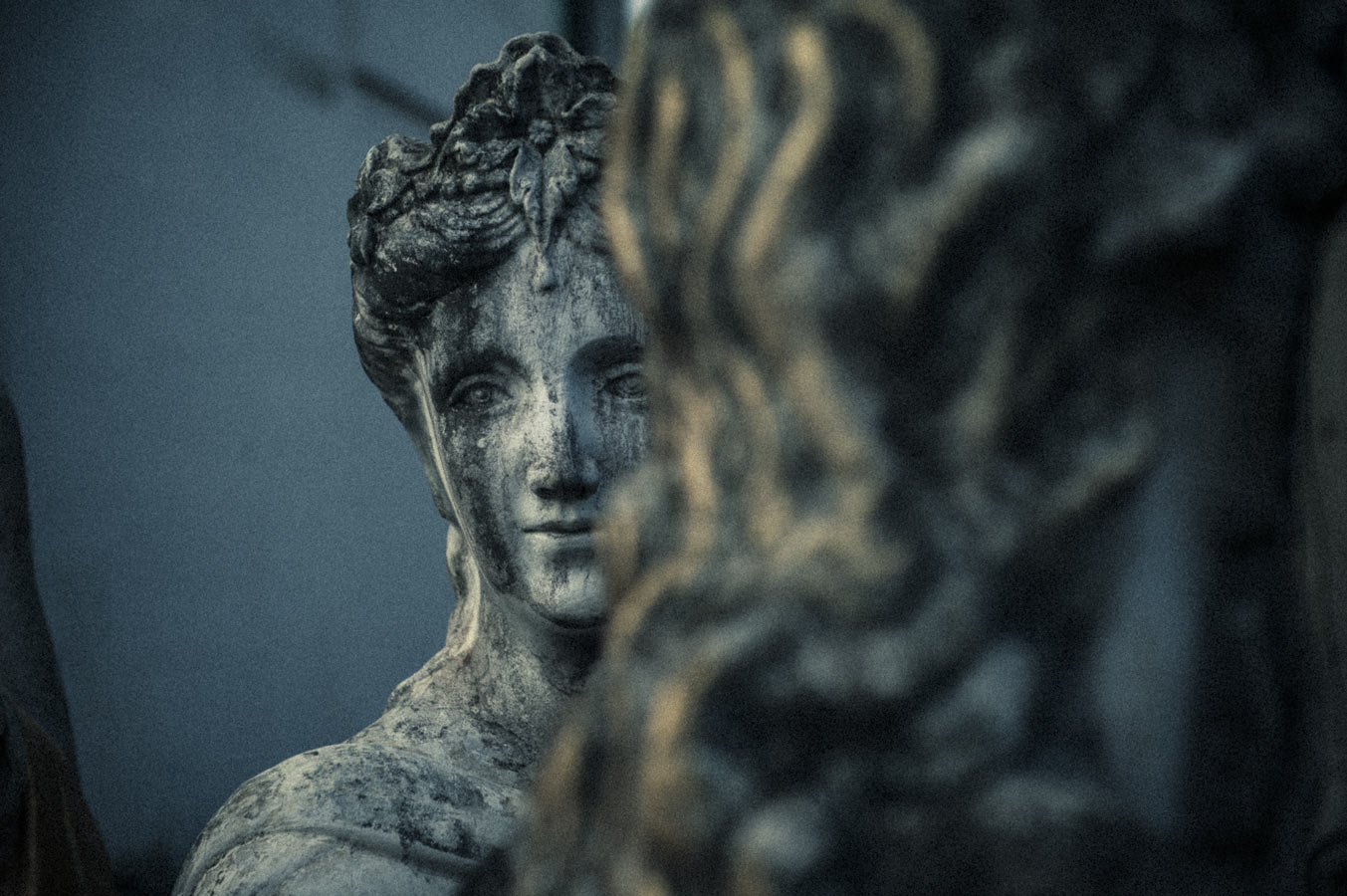 Silent Vigil, a statue's gaze in the grounds of The House of Success.