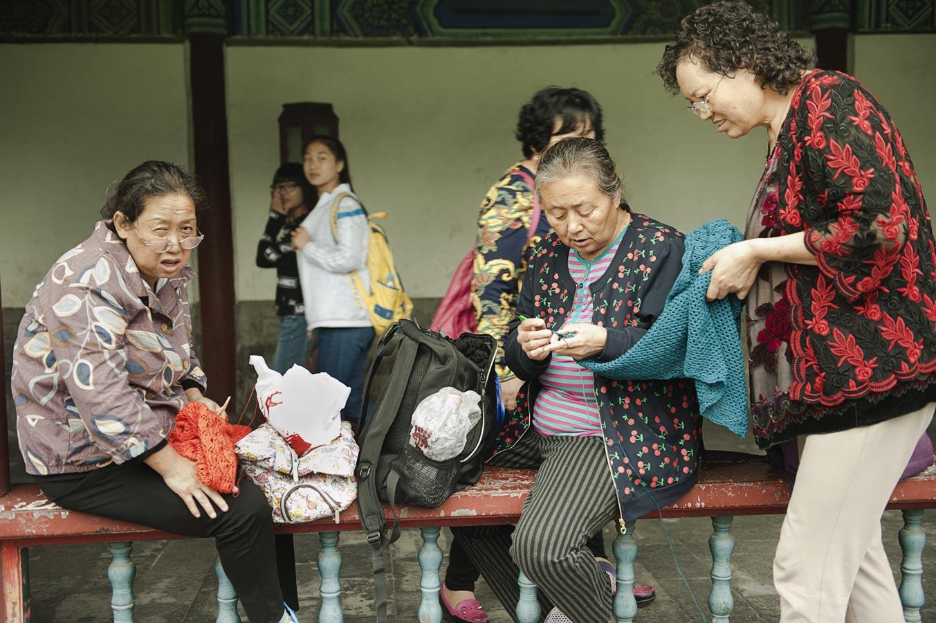 Jamie Lowe Photography Park Life Beijing Knitting Circle