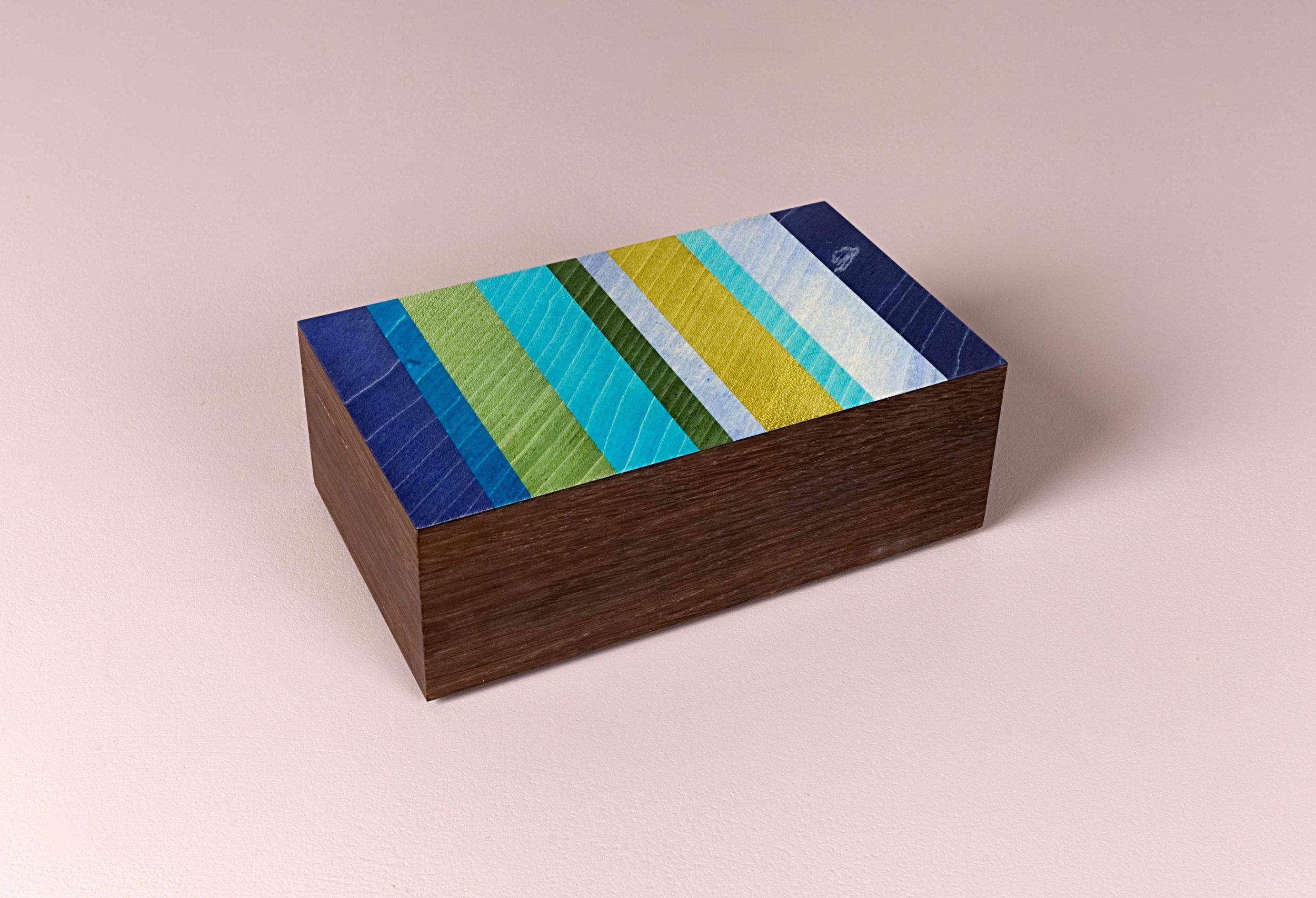 Neptune and fumed oak trinket box