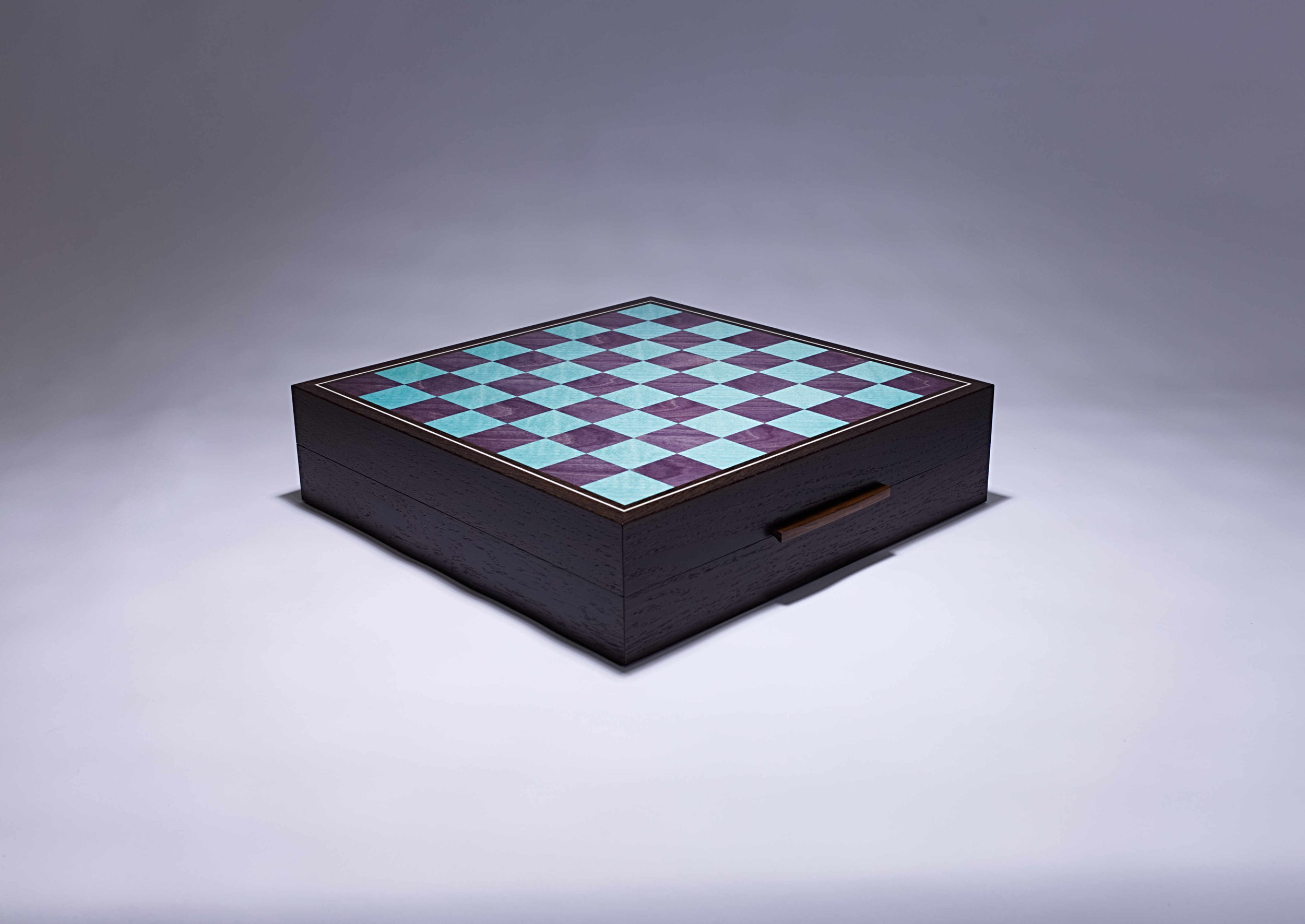 Turquoise and Violet Games Box