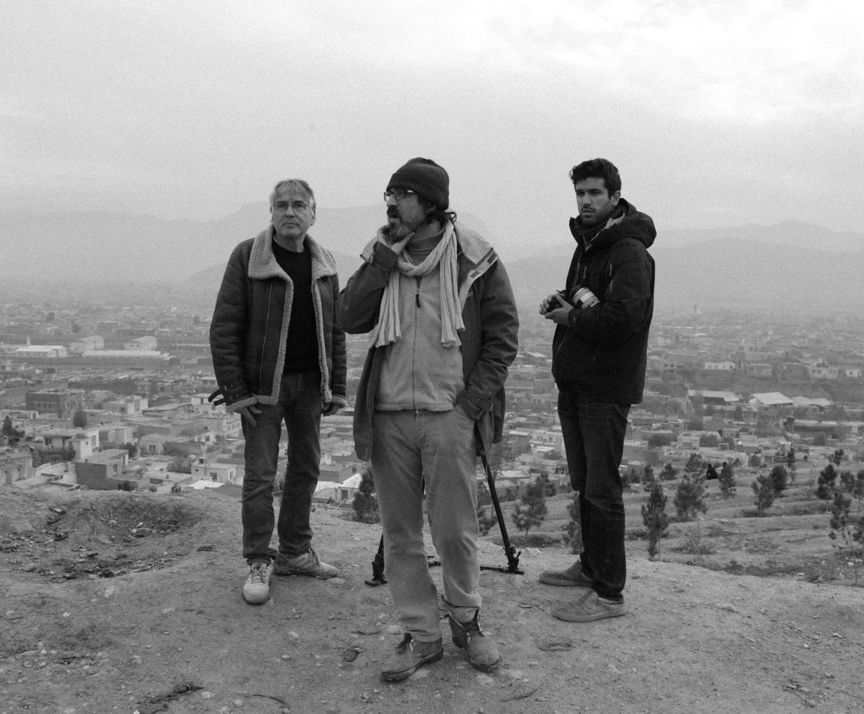 Operating a shot for Thierry Arbogast on the hills of Kabul Afghanistan.