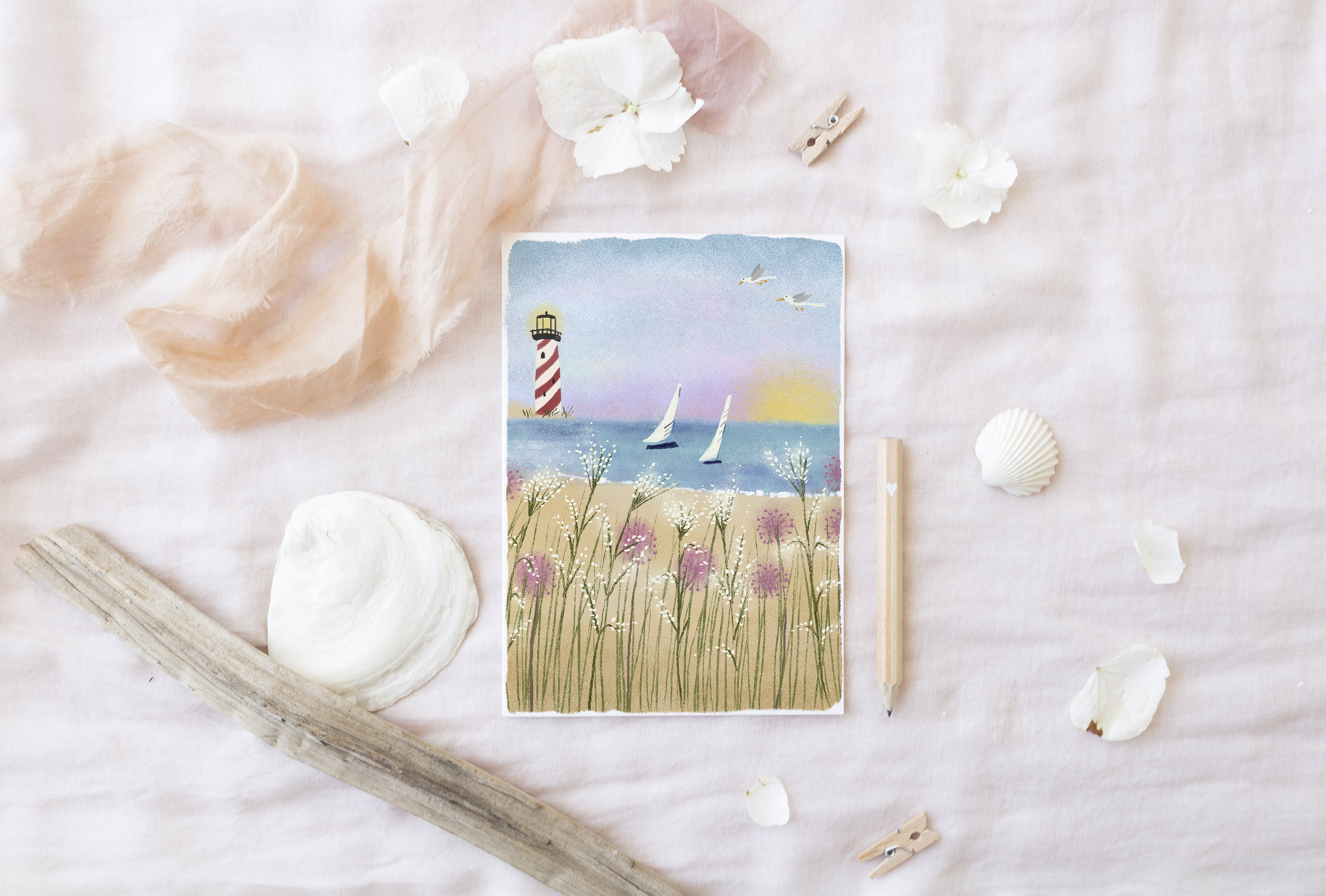 Light by the Sea by Joy Laforme for Design House Greetings