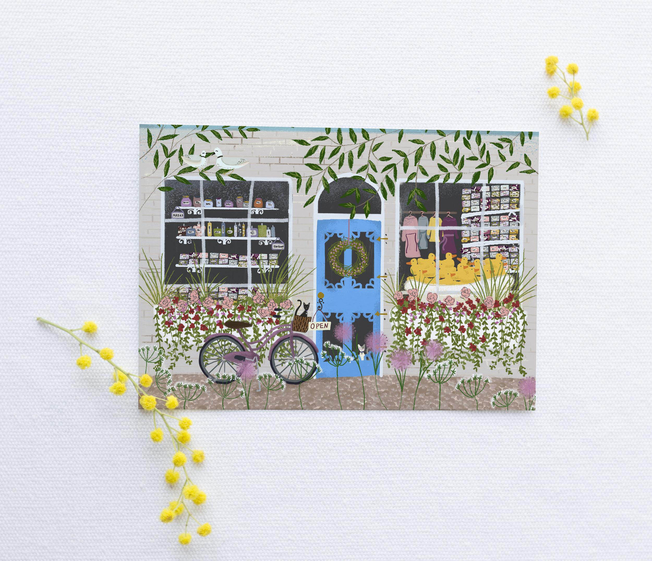 Soap Shop Storefront by Joy Laforme for Woodmansterne