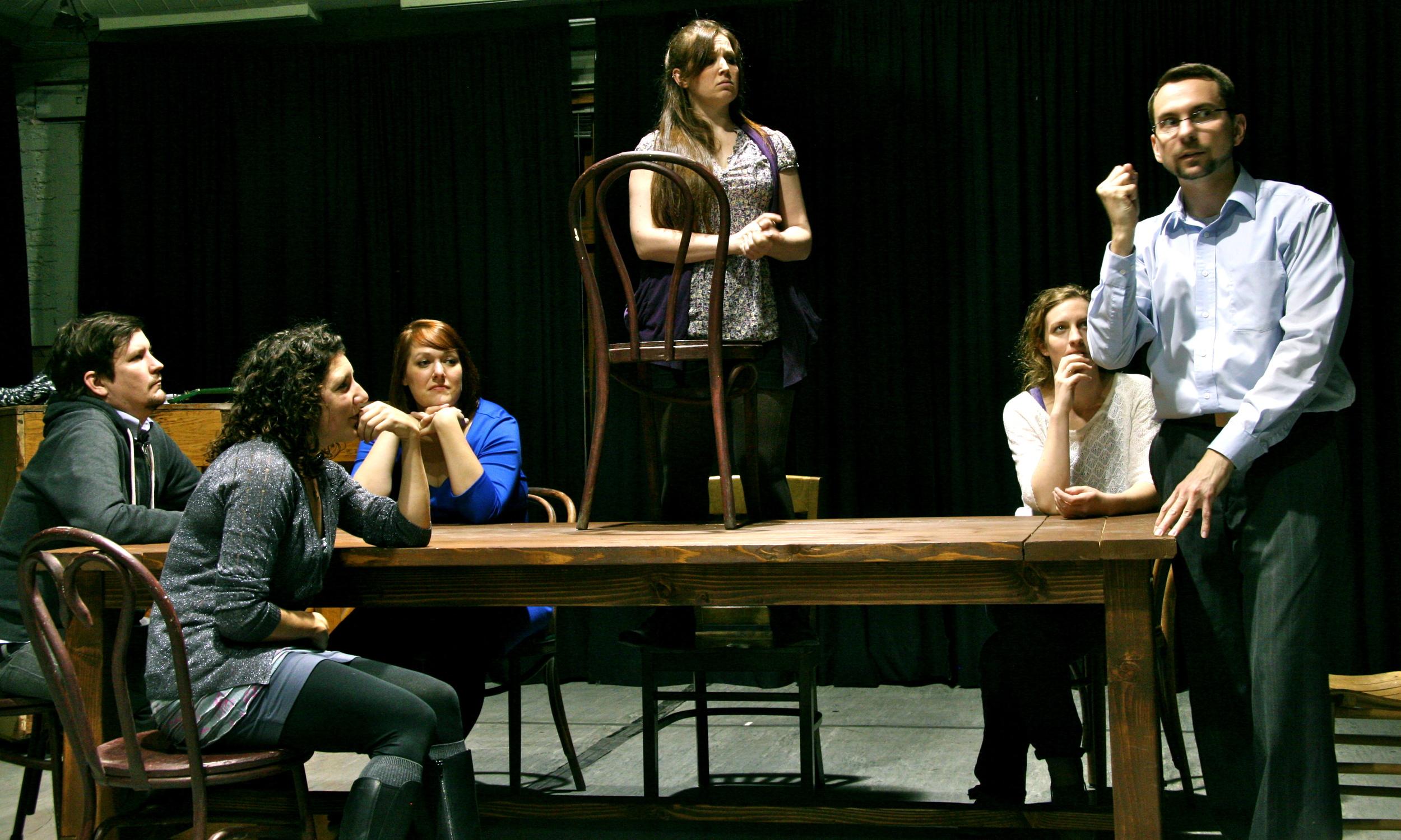 James Dunn, Sara Jean McCarthy, Amber Gerencher, Kristen T. King, Erika Haaland, Jack Dugan Carpenter, (Photo by Jasmine ~1.JPG