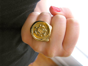 Wax Seal Ring by Janeane Bowlware
