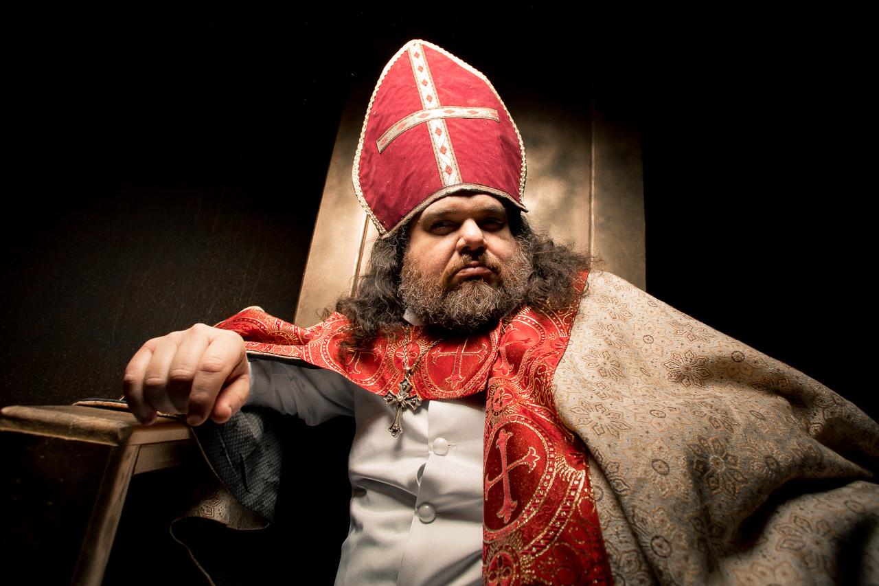 Patrick Zielinski as Prince-Bishop Waldeck. Photo by Joe Mazza of BraveLux