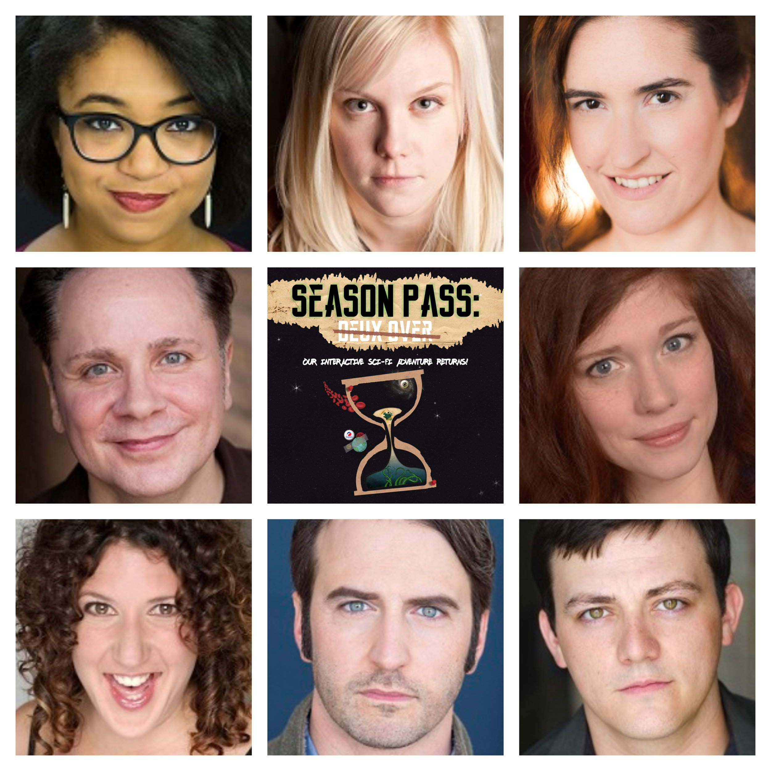 The cast of Season Pass: Deux Over