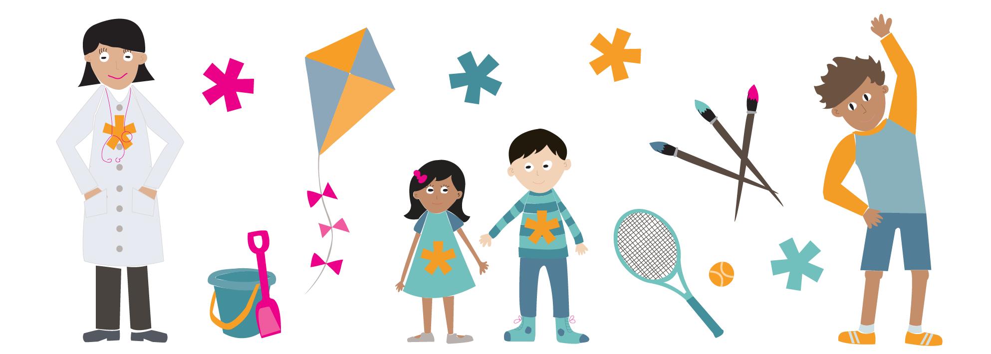 Saturdays Childcare Illustrations