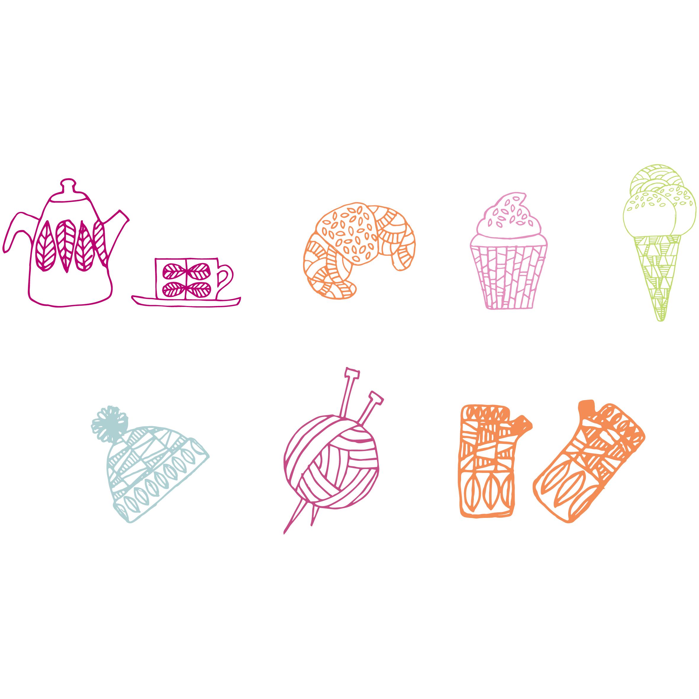 set of illustrations