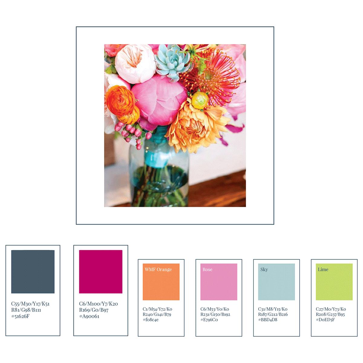 one colour palette