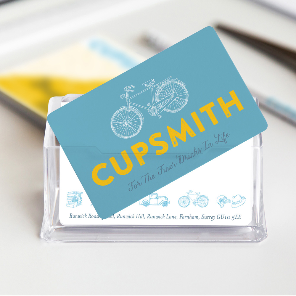 A nostalgic but modern and friendly corporate identity for a family-run coffee roastery and beverage retailer - www.cupsmith.com