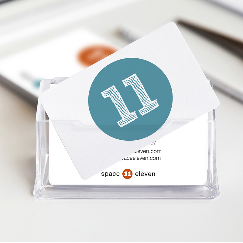 A simple, modern brand design for a retail design and communication agency - www.space11.co.uk