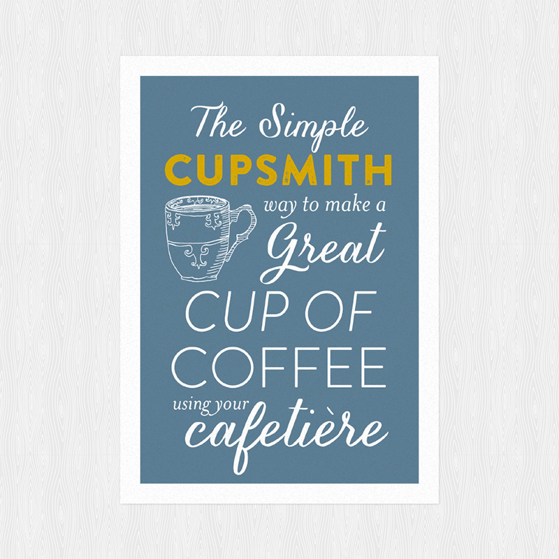 A nostalgic, typographic postcard for a small local coffee roaster.