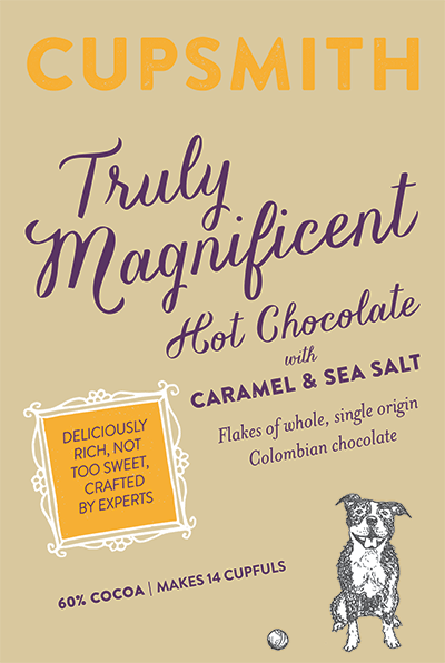 truly magnificent hot chocolate with caramel