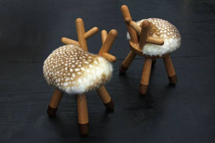 I want to gobble up these adorable   Bambi Chairs  !