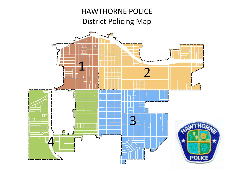 Hawthorne California Map.Neighborhoods Homepage Hawthorne Police