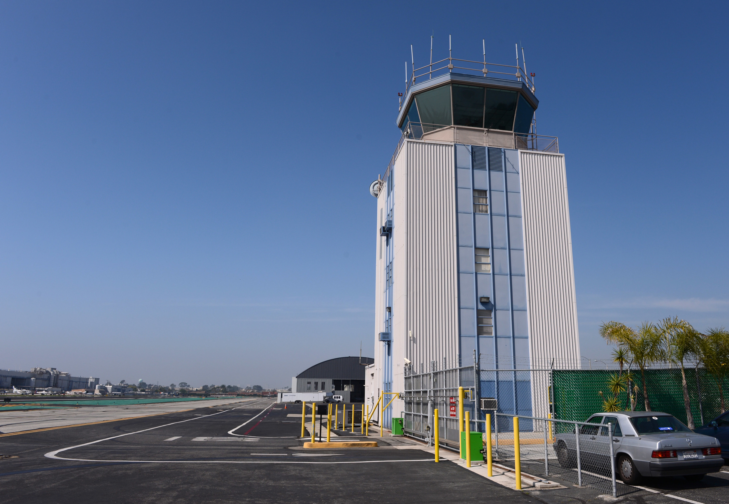 Hawthorne Municipal Airport's control tower in 2013. (Daily Breeze staff file photo)