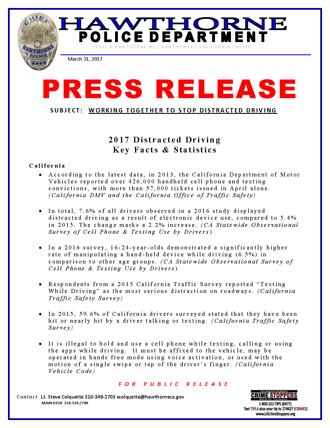 Distracted Driver Stats and Facts Press Release_Page_1.png