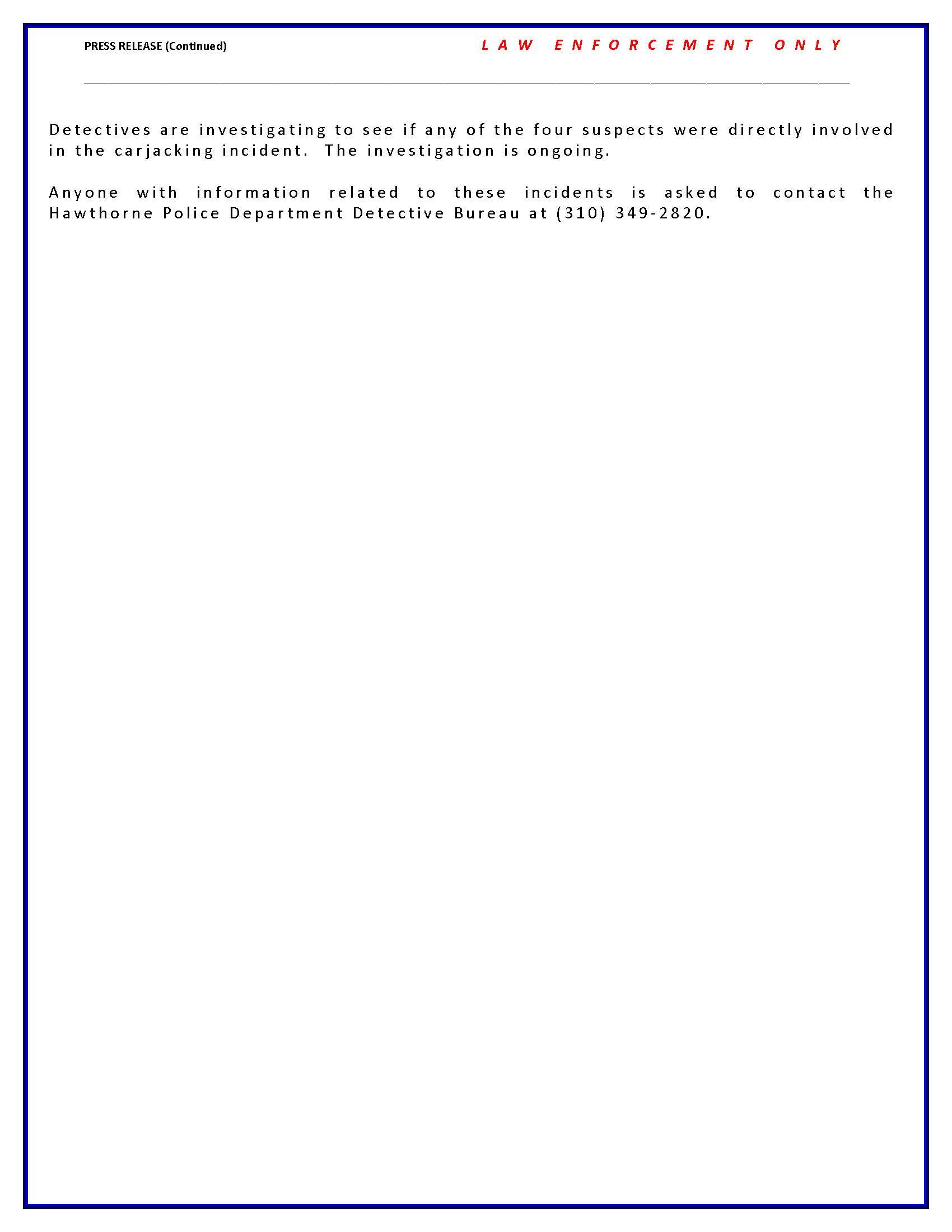 Carjacking Stolen Vehicle Arrests - page 2