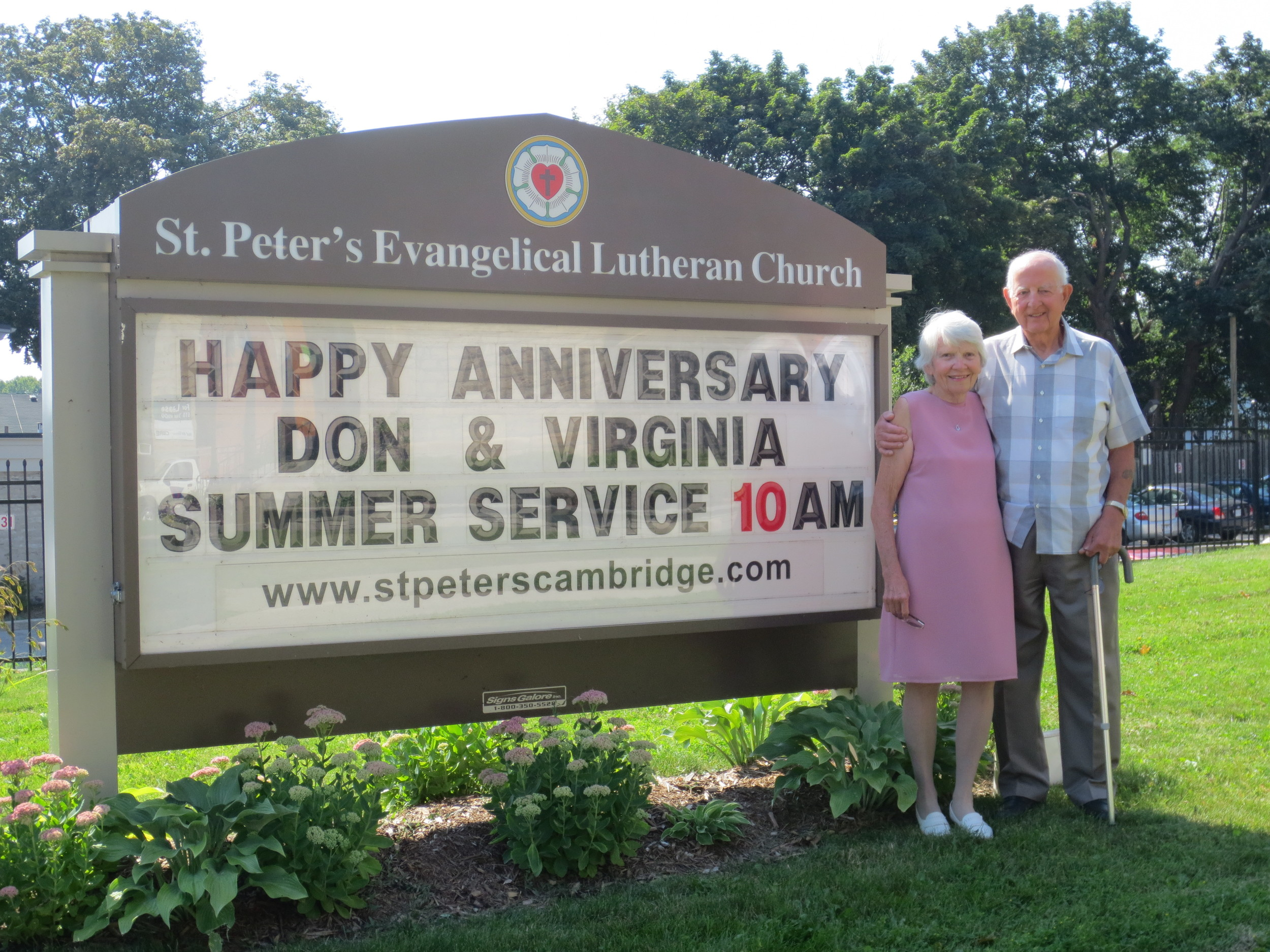 Happy 62nd wedding anniversary to Virginia and Don Davidson. They were married August 18, 1951. God bless you both.