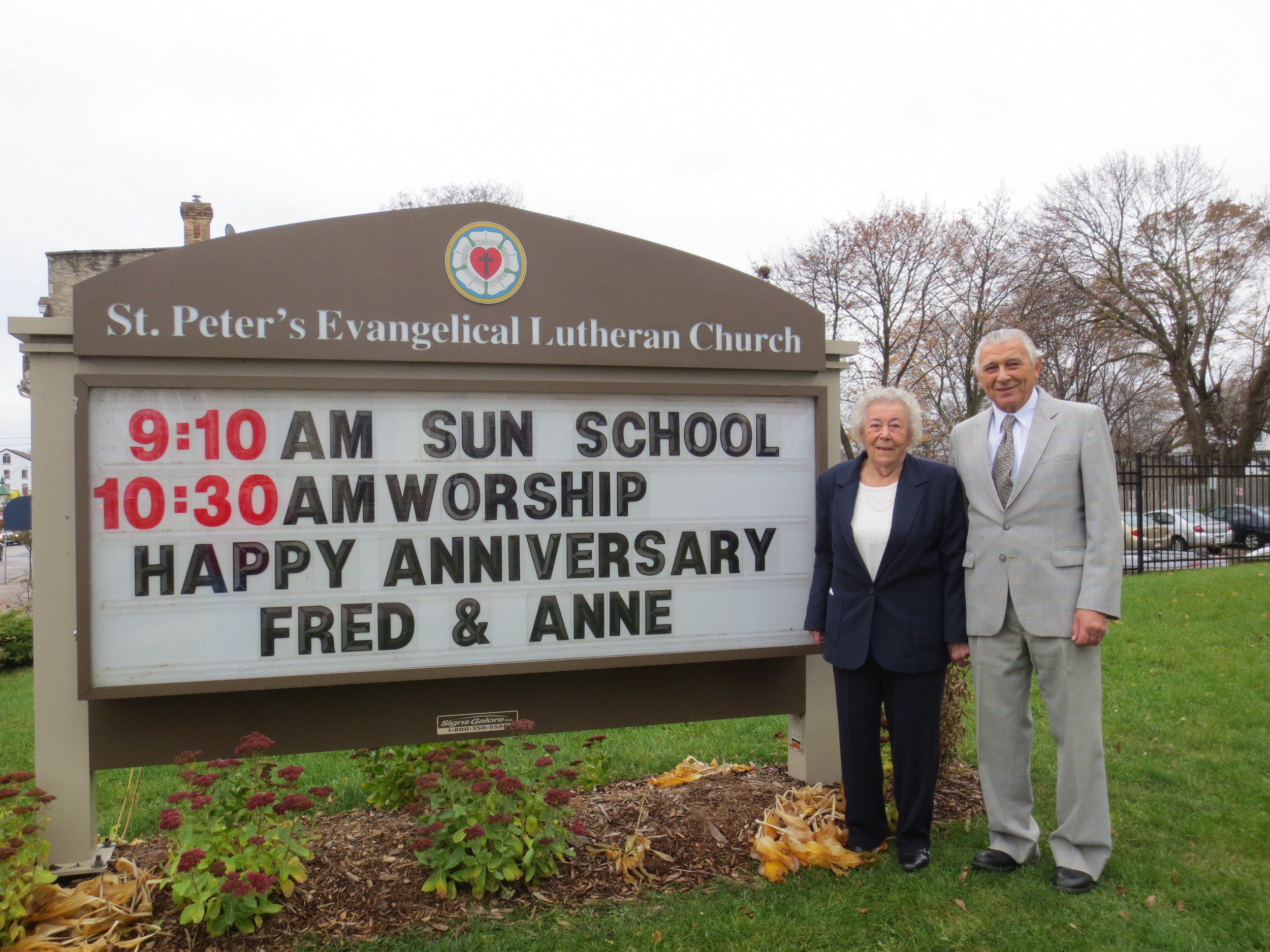 Congratulations and best wishes to Anne & Fred Hoot on the celebration of their 62nd wedding anniversary. Anne & Fred were married November 17th 1951. god bless you both!