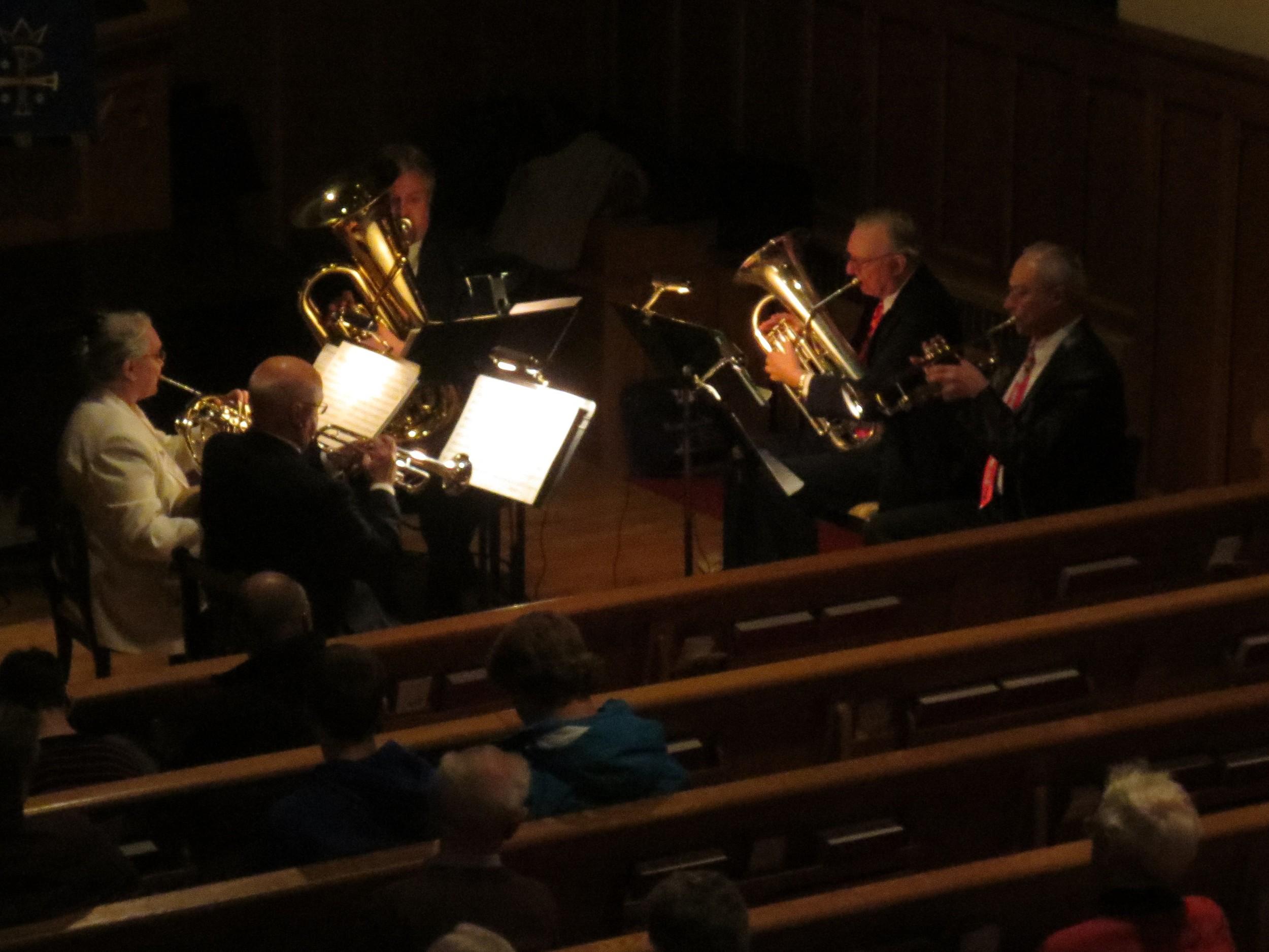 Grand River Brass Quintet, December 13, 2013.
