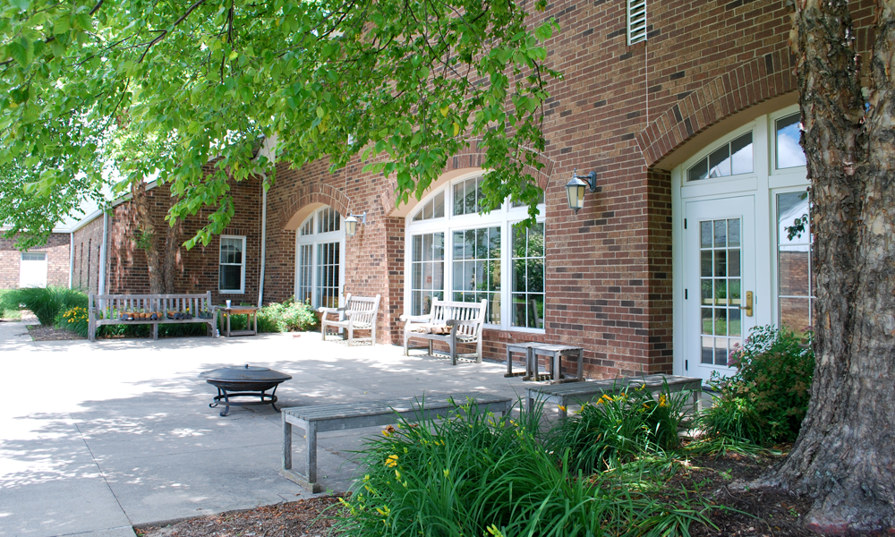 The most recent addition to our building included this beautiful patio.