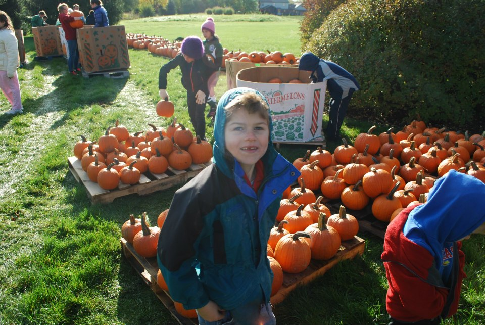 Kids enjoying the annual Pumpkin Place