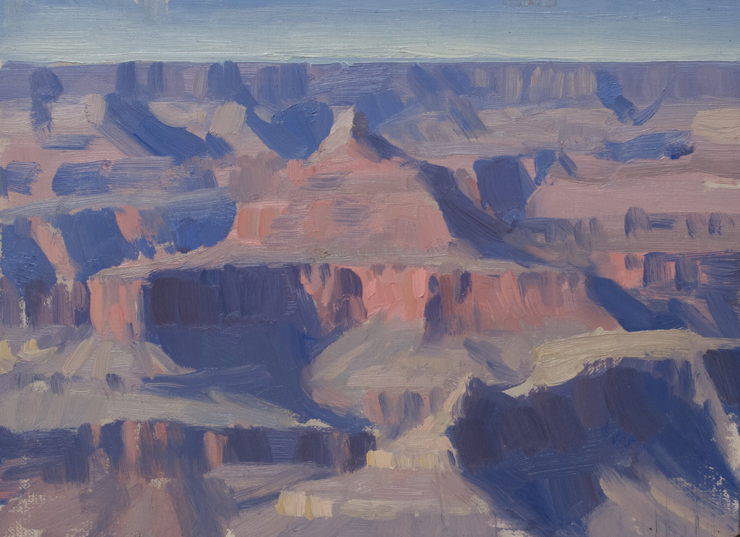 Grand Canyon Study, 8 x 10 inches, oil on linen