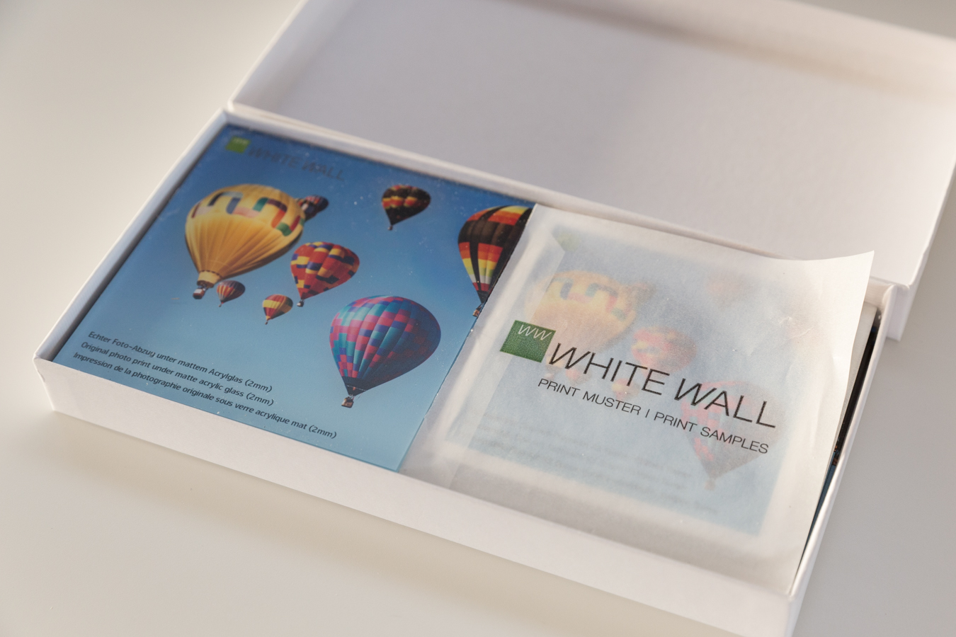 WhiteWall's comprehensive print sample pack