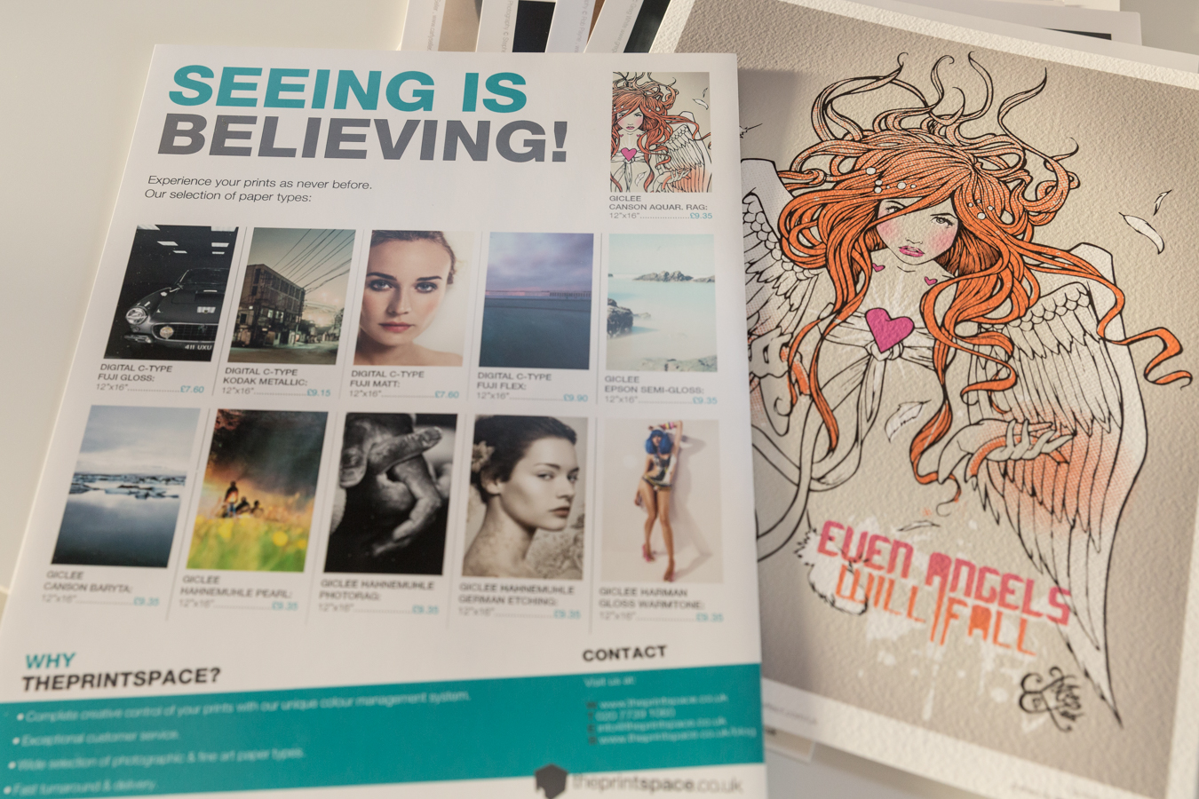 theprintspace's awesome sample pack, featuring some awesome work