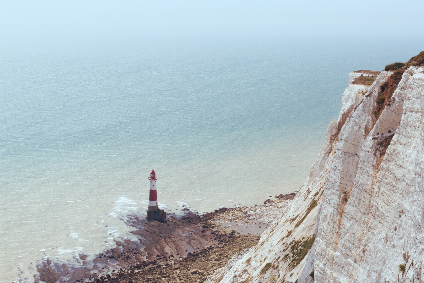 The infamous Beachy Head Lighthouse