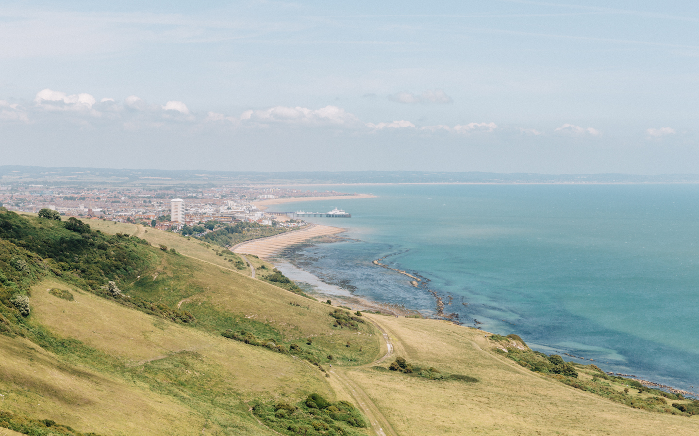 Looking down towards Eastbourne from Beachy Head
