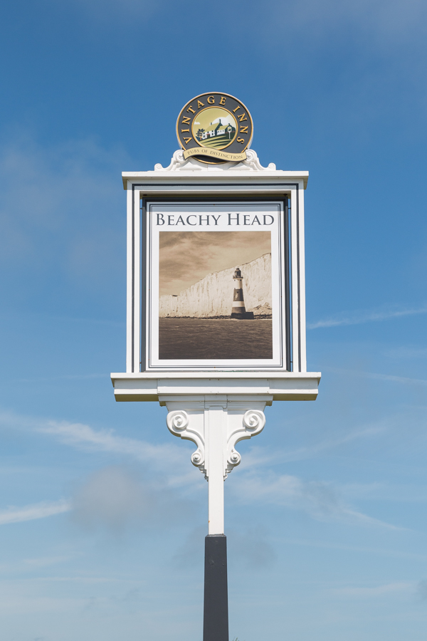 The Beachy Head pub also features the iconic lighthouse