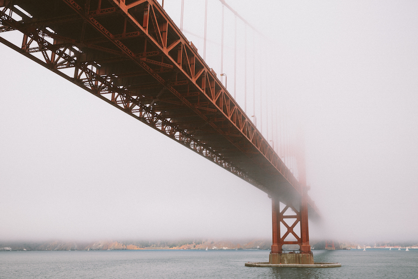 The Golden Gate Bridge, as seen from Fort Point