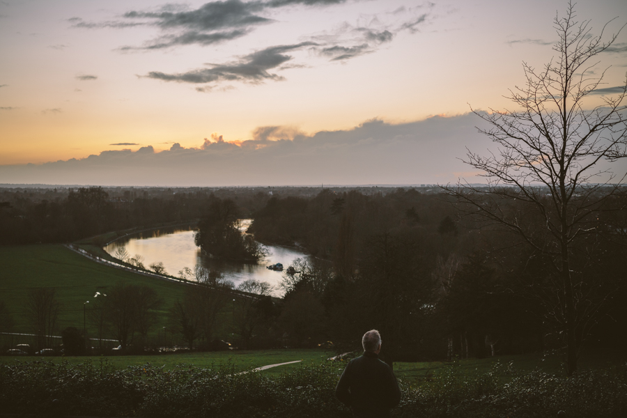 Looking out from the top of Richmond Hill