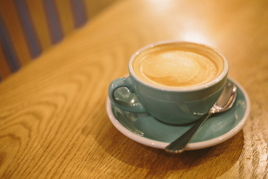 Chilling out with a coffee at Verdict Bakery