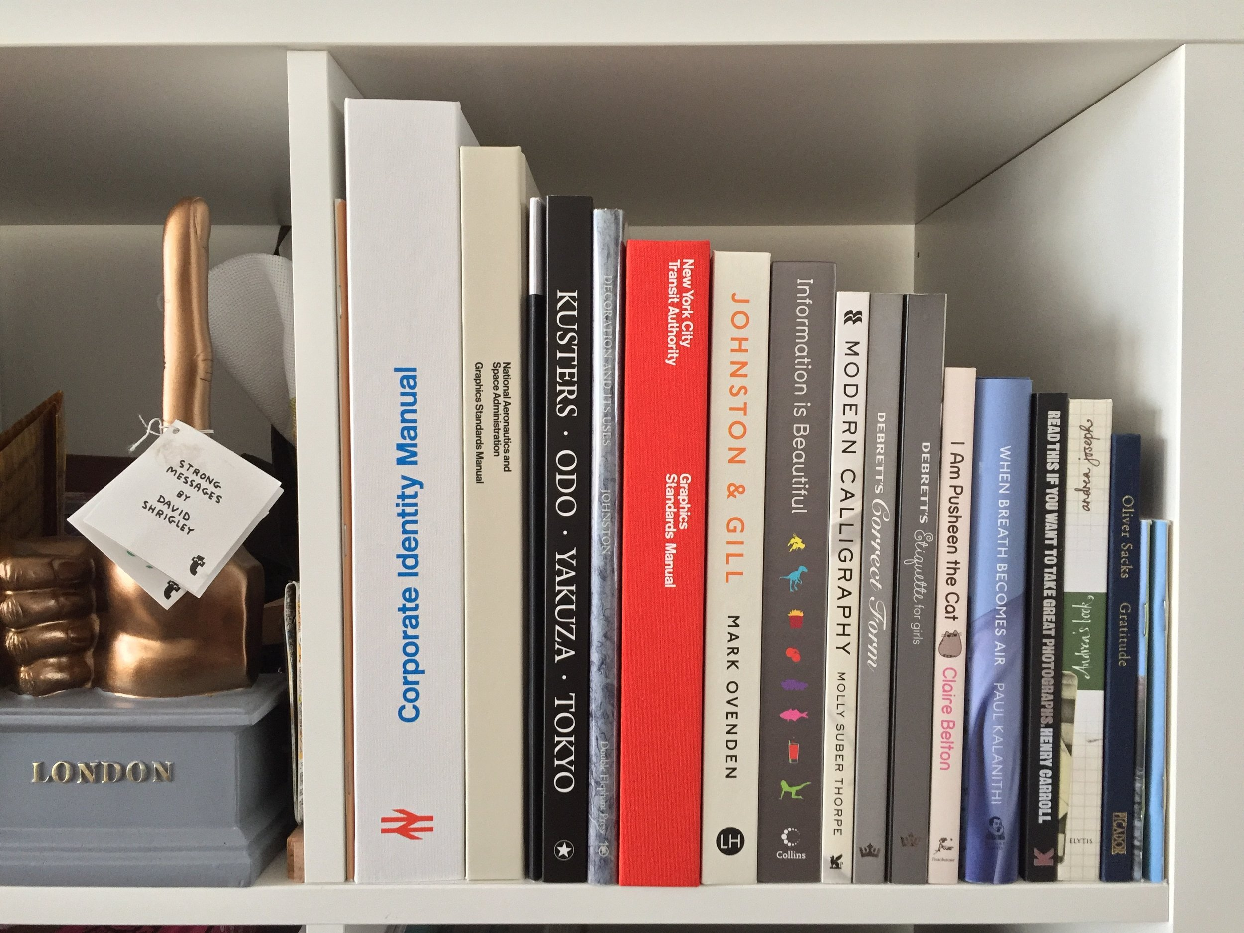 This corner of my bookcase is going to collapse under the weight of all the design manuals...