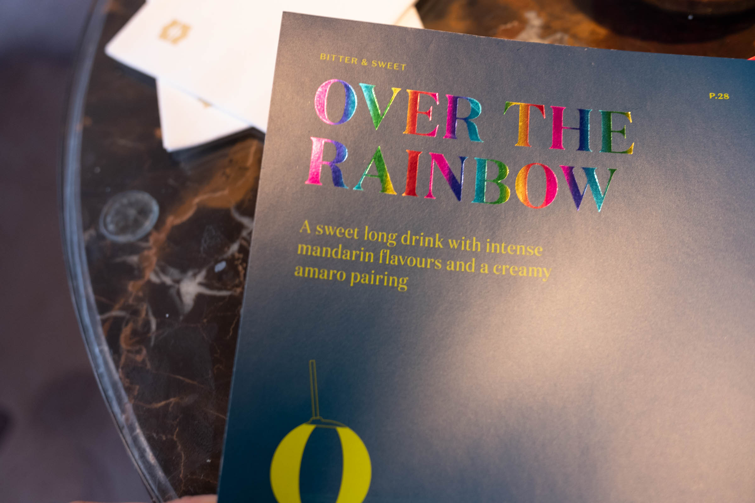 Lovely foil on the cocktail menu, with little facts detailing the insipiring inventions that inspired the drinks