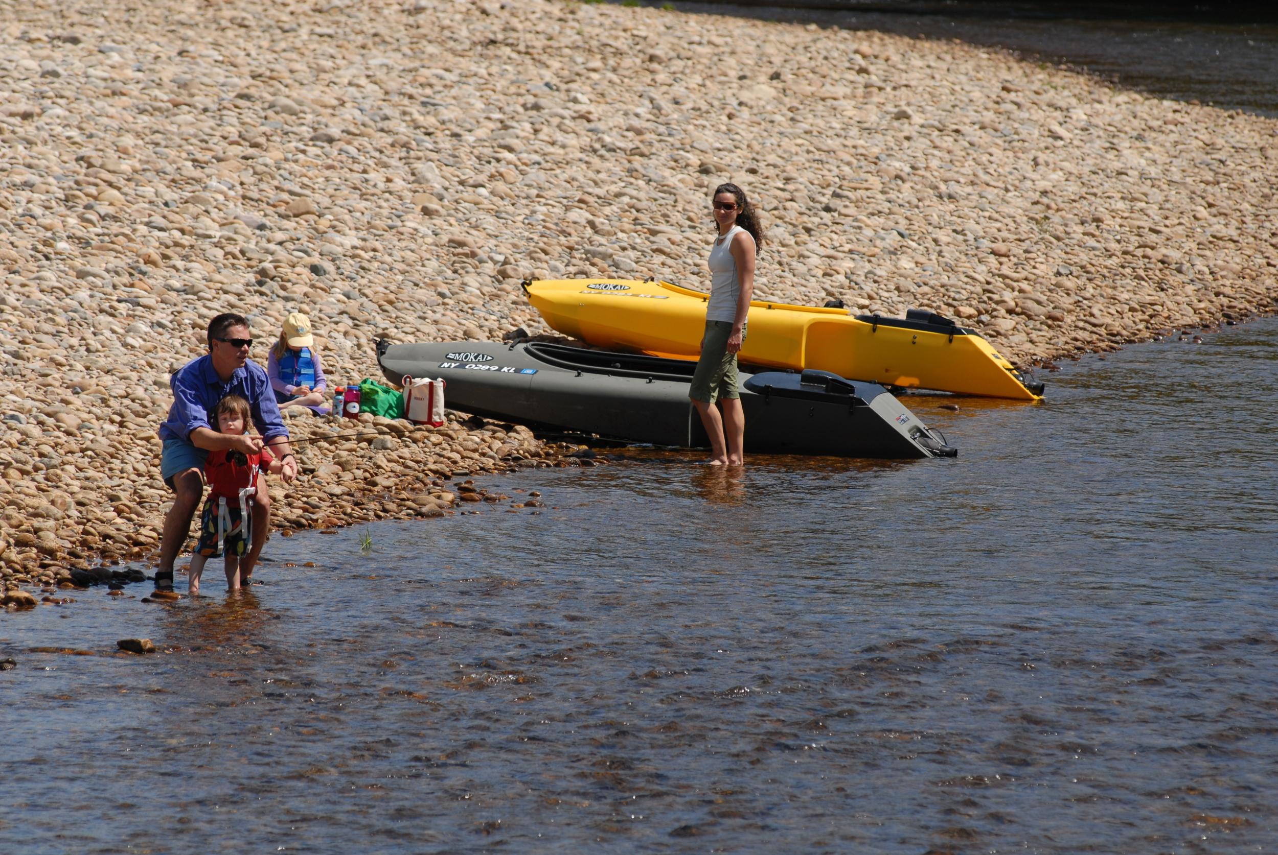 Family Fishing, Pemigewasset River, NH