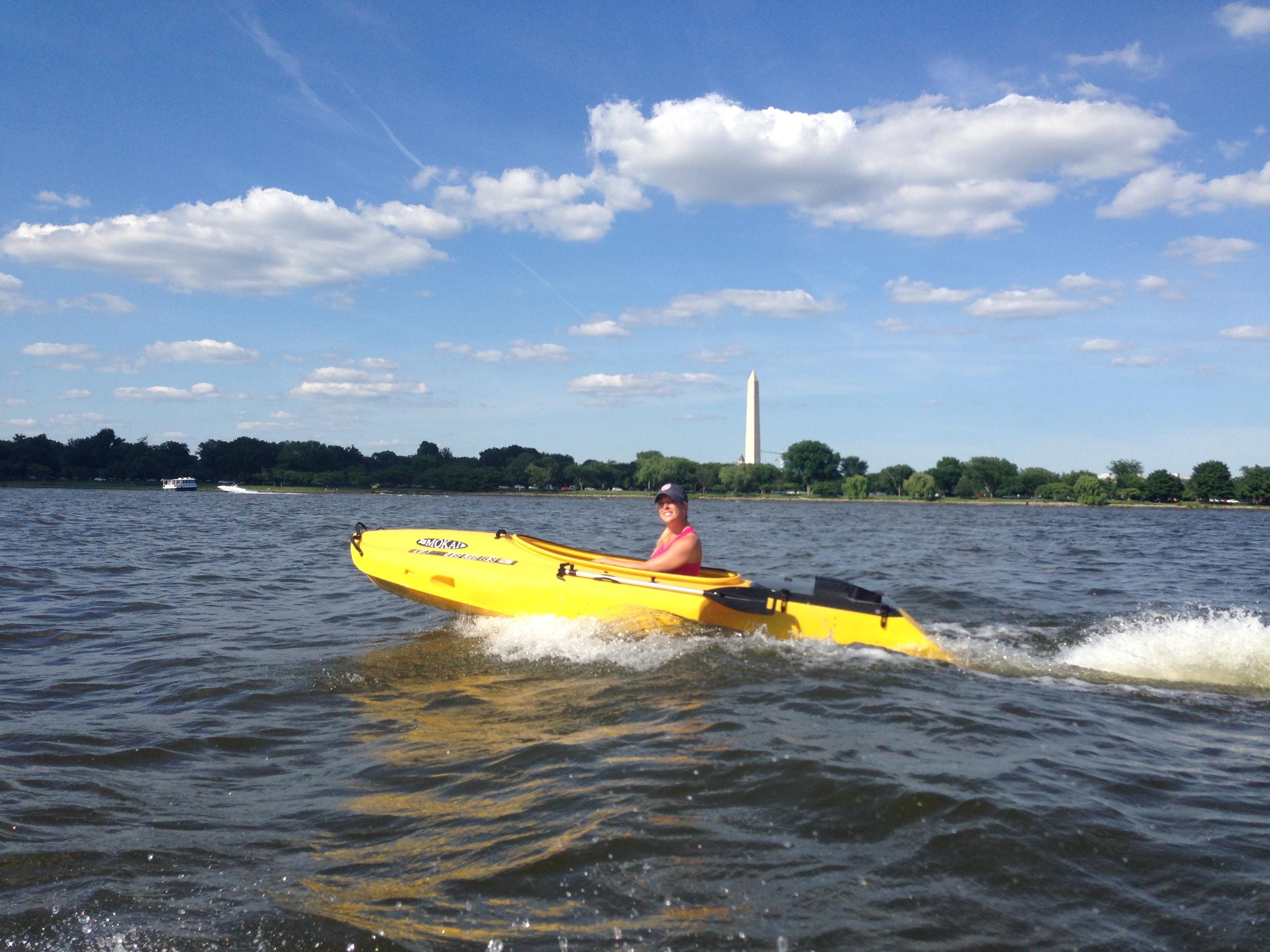 Enjoying the Potomac River