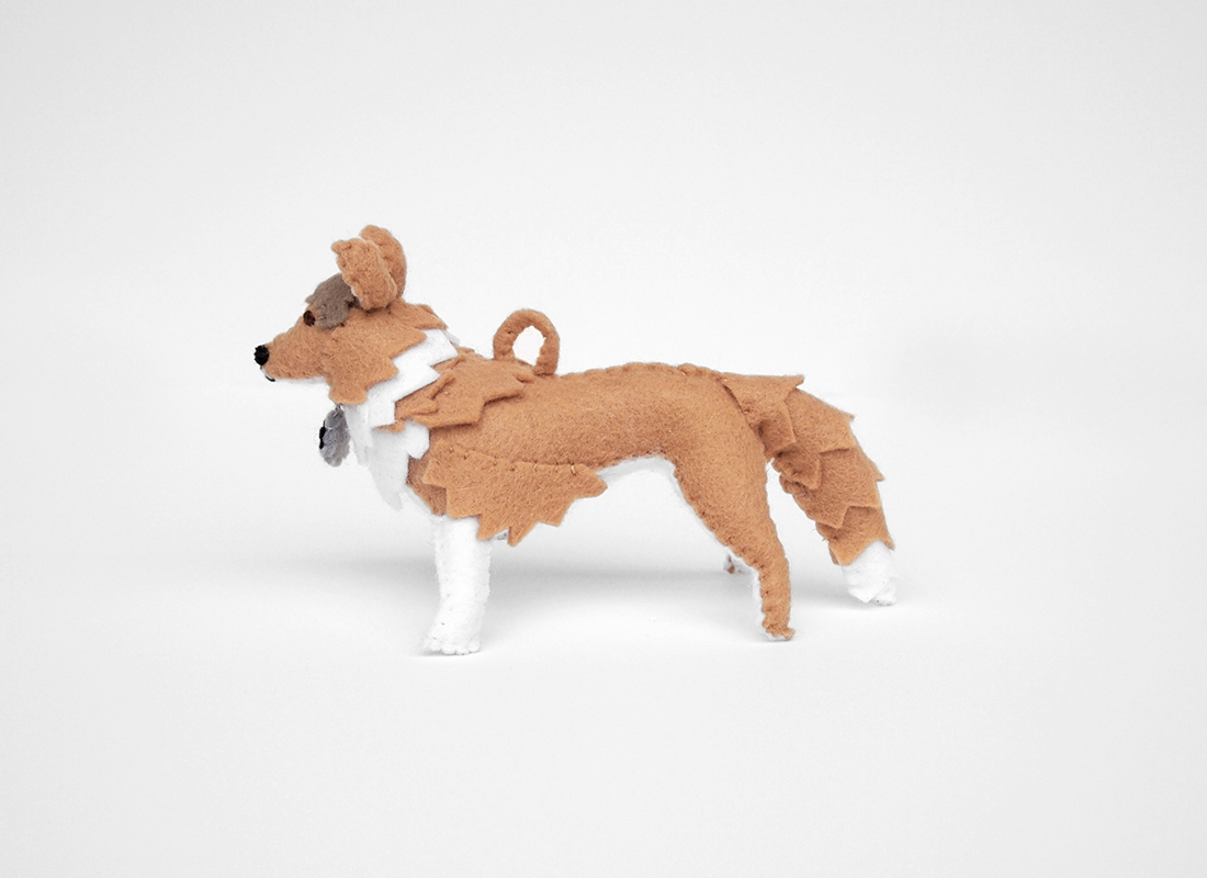 shetland sheepdog felt dog portrait