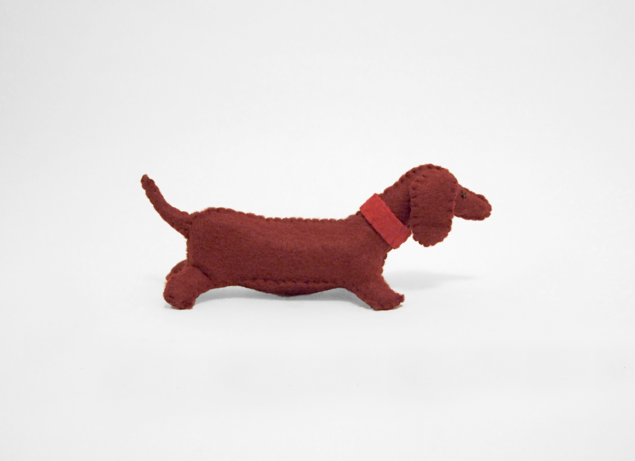 wiener felt dog portrait