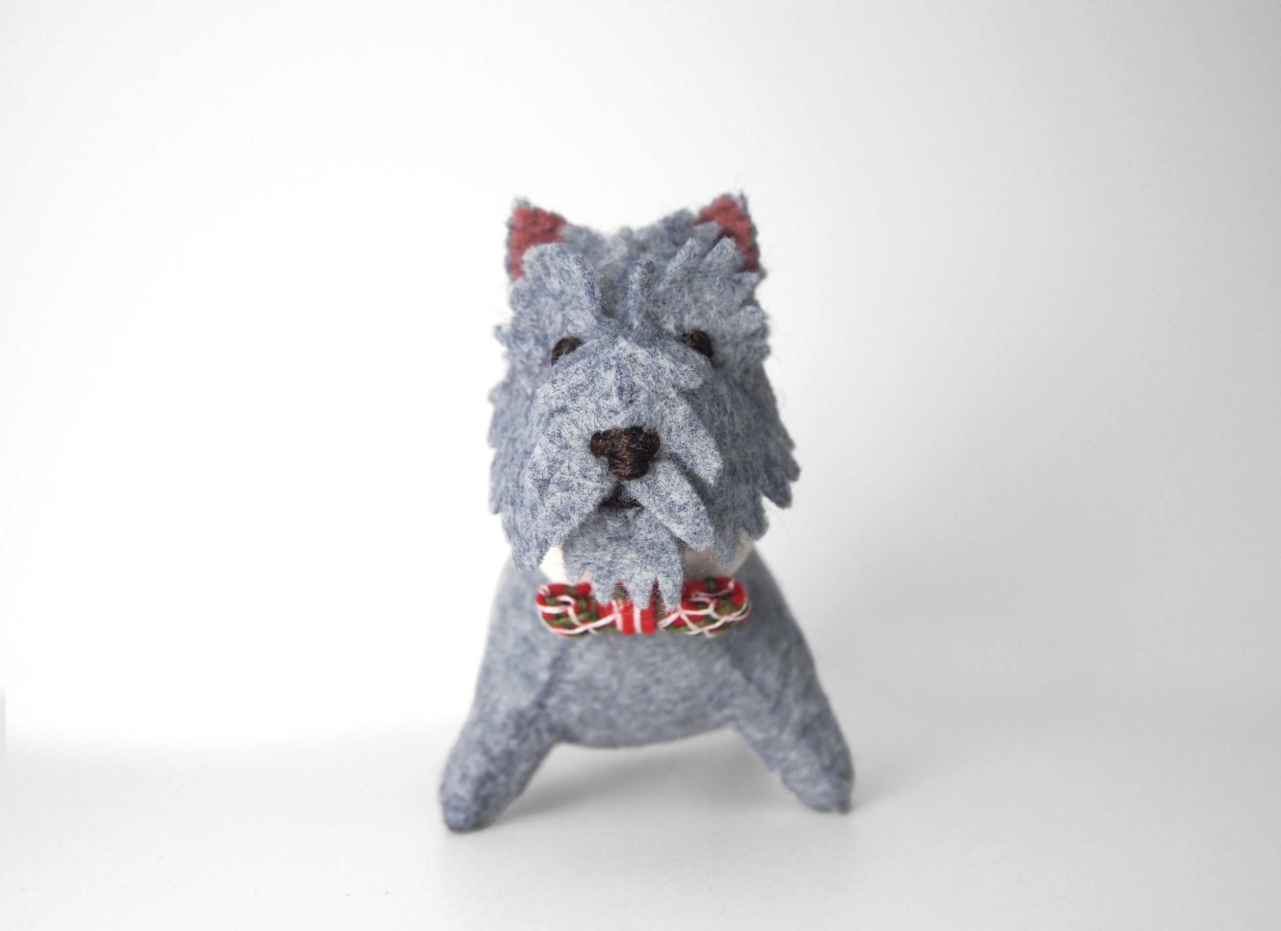 terrier felt dog portrait