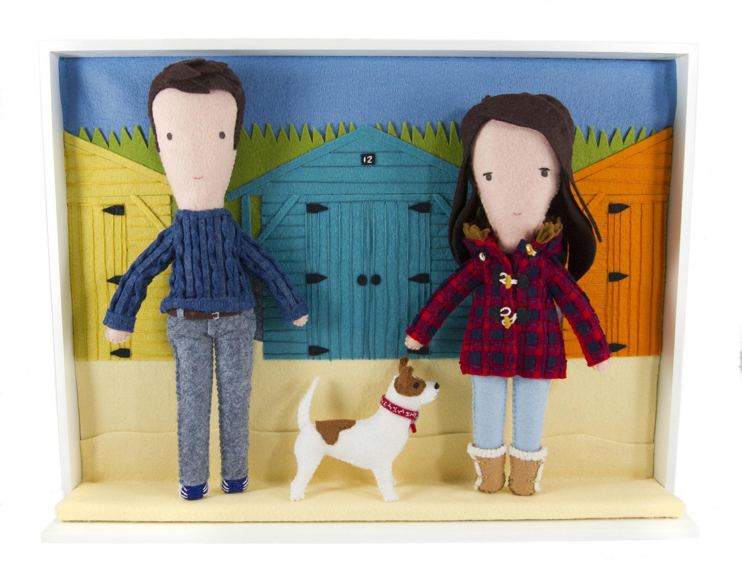 eleni creative-Couple and Dog Portrait Diorama.jpg
